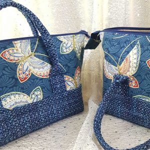 Retreat Bag (Woven base & Butterflies)