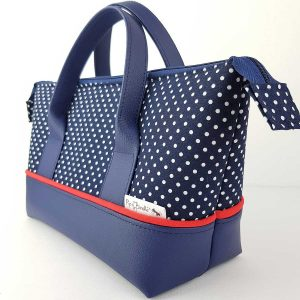 Retreat Bag (Navy Polka Dot)
