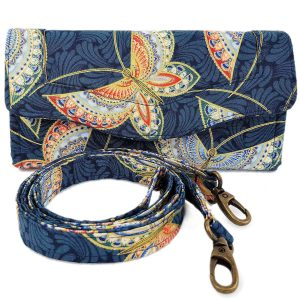 Clutch wallet (Blue butterfly)