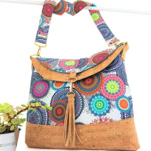 Hobo bag large (Circles & Cork)