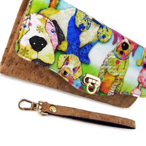 Clutch wallet (Dogs & gold flecked cork)