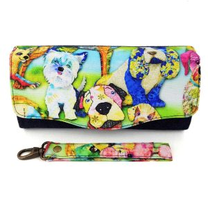 Clutch wallet (Dogs & denim)
