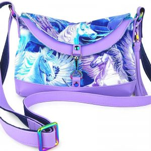 Hobo Bag Short Mini (Unicorn & Faux Leather)