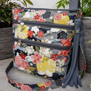 Cross-body organiser bag (Japanese Floral)