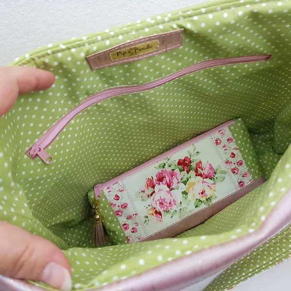 Hobo-Bag-&-Accessory-pouch-set-(Up-Cycled-fabrics)