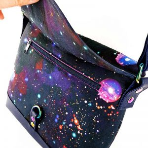 Hobo Bag Mini (Galaxy & Navy faux leather)