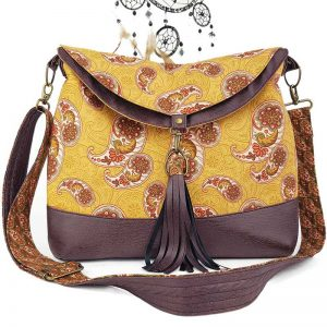 Hobo Bag large (Paisley & Faux Leather)
