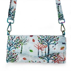 Clutch wallet (Rainbow trees)
