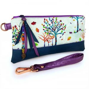 Accessory pouch (Rainbow Trees)