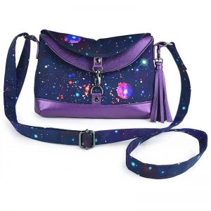 Hobo Bag Short Mini (Galaxy & Faux Leather)