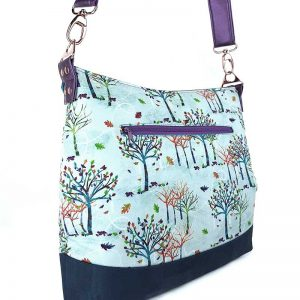 Hobo Bag large (Rainbow trees, Cork & faux Leather)
